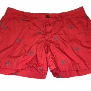 🌺5/$25 OLD NAVY Embroidered Coral Anchor Shorts